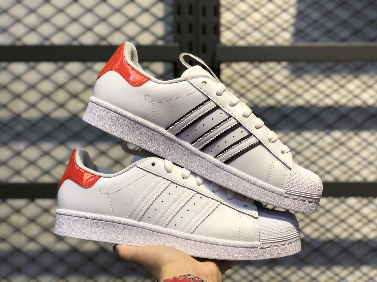 "New This Year Adidas Superstar ""TOKYO"" White-Red FW2829"