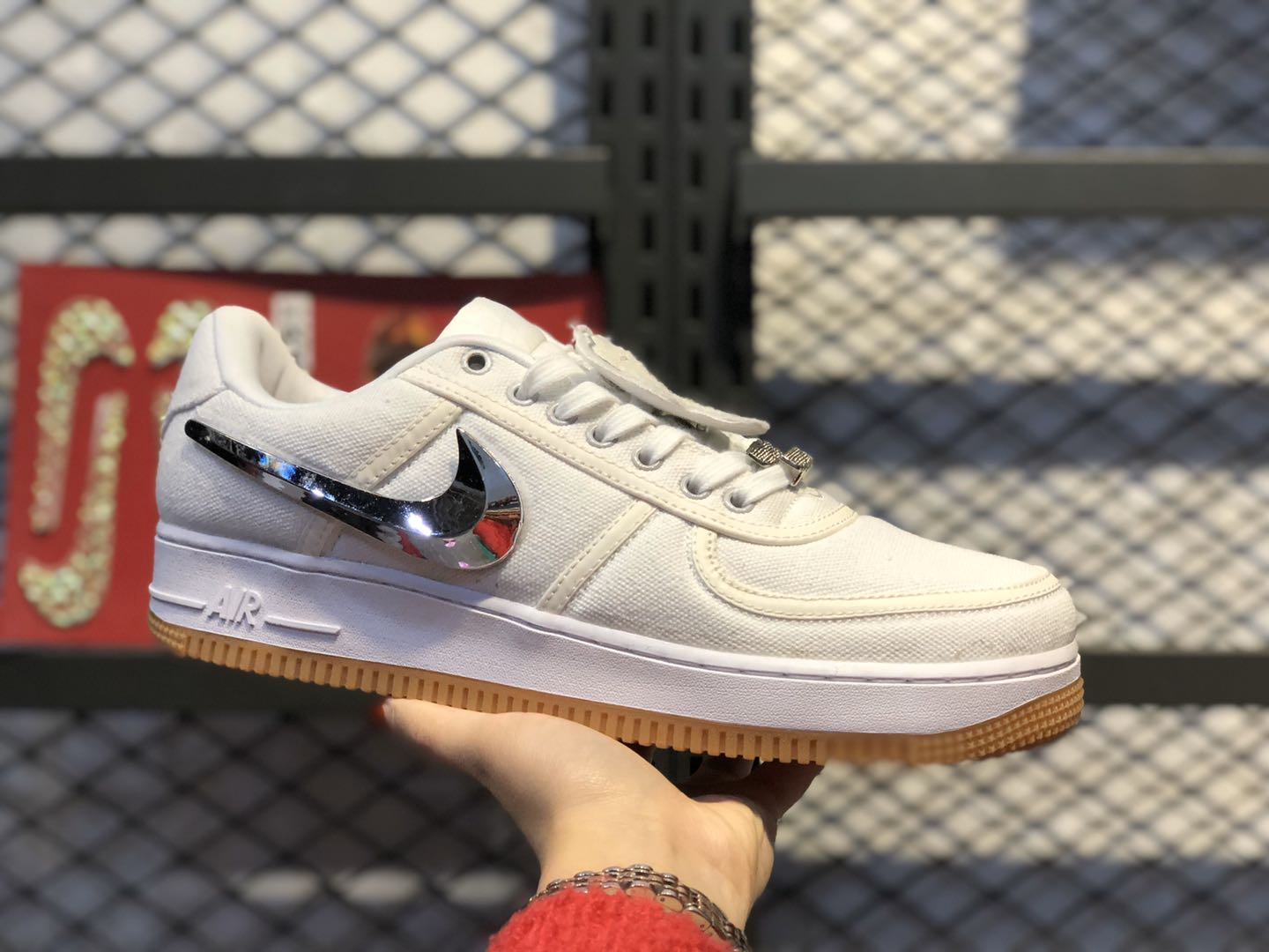 "Nike Air Force‌ 1 Low ""Travis Scott"" White/White-White AQ4211-100"