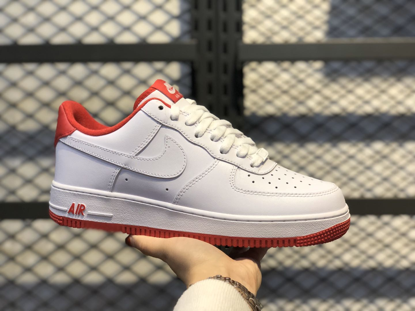 Nike Air Force 1 Low White/University Red CD0884-101 For Sale