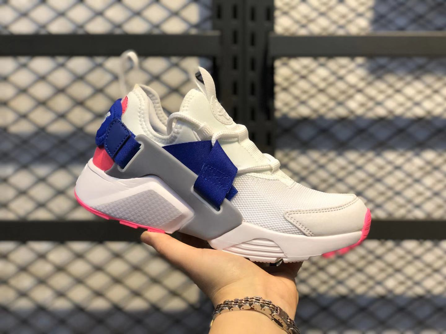 Nike Air Huarache City Low White/Hot Punch-Loyal Blue On Sale AH6804-101