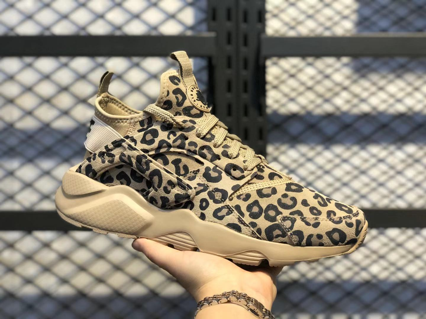 Nike Air Huarache Run Ultra Suede Leopard Print Pony In Stock 829669-557