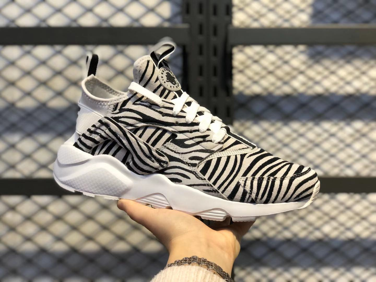 Nike Air Huarache Ultra Zebra Print White Black In Stock 829669-553
