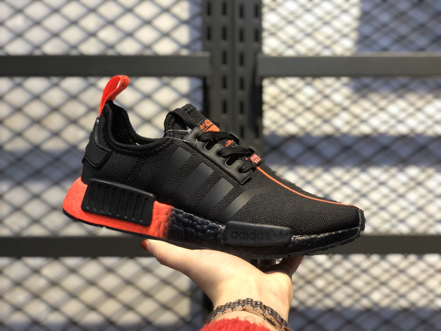"Star Wars x Adidas NMD R1 ""Darth Vader"" Core Black/Core Black-Solar Red FW2282"