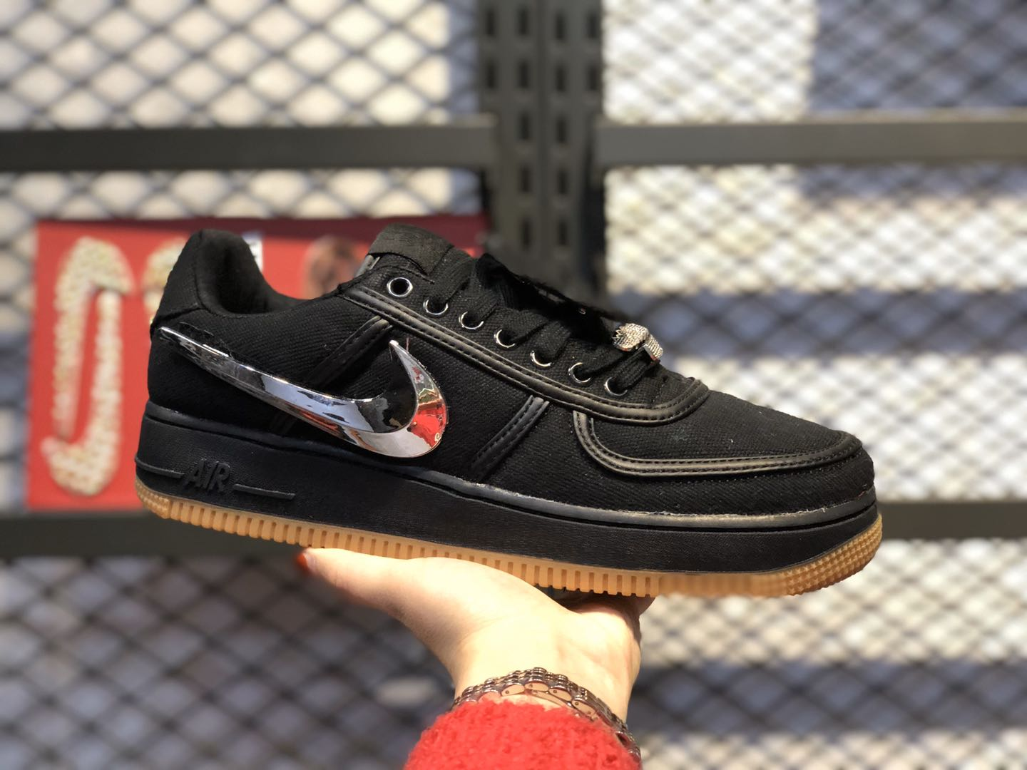 Travis‌ Scott x‌ Nike Air Force‌ 1 Low Core Black/Black AQ4211-600