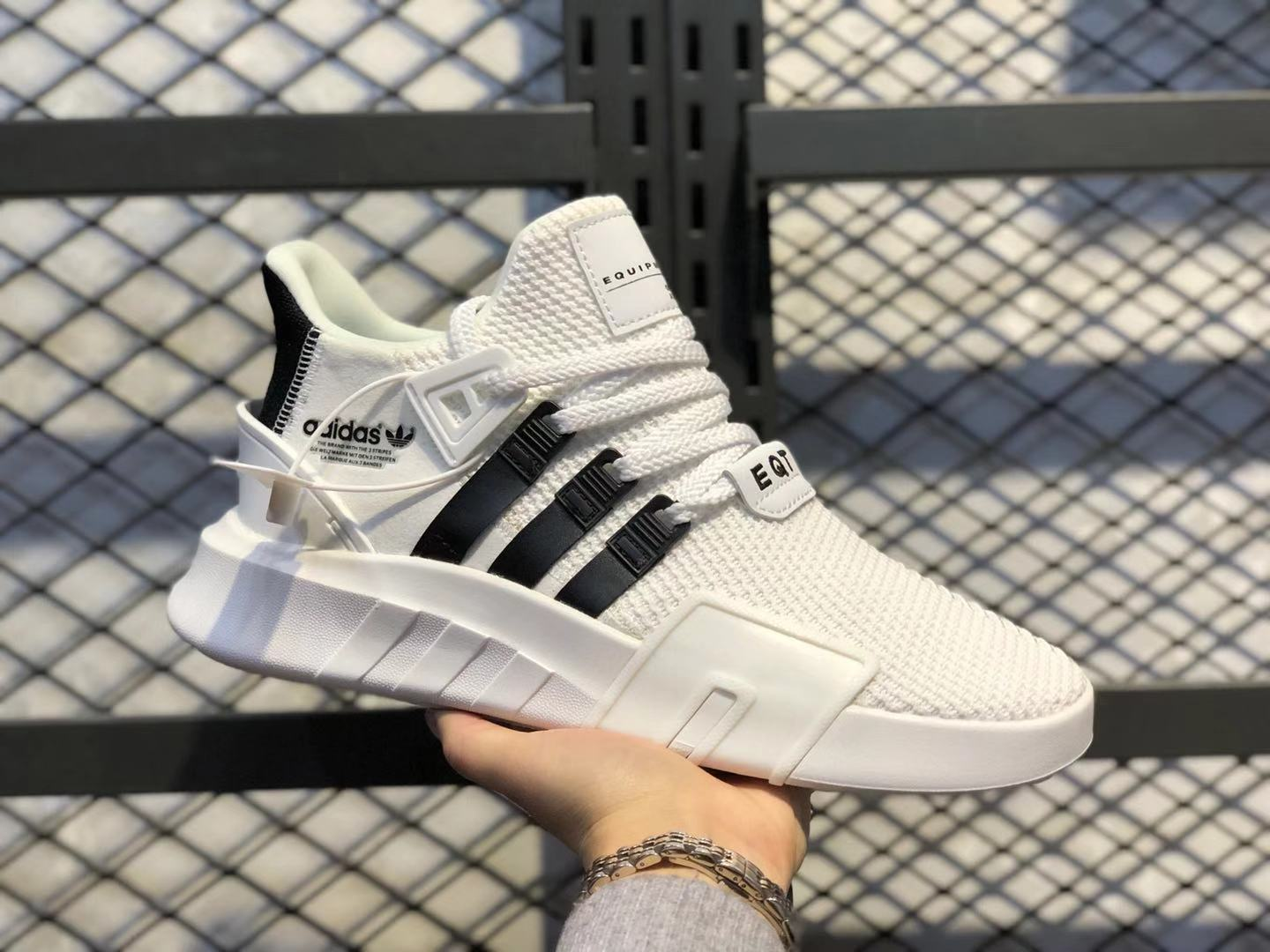 Adidas EQT Bask ADV White/Black Running Shoes On Sale FU9398