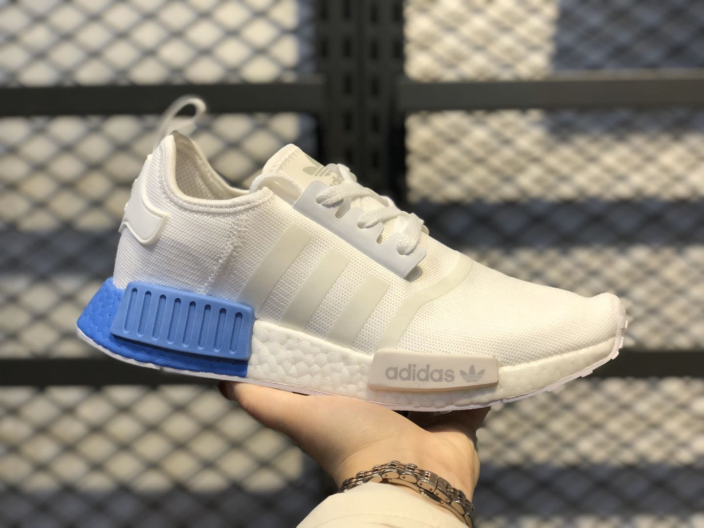 Adidas NMD R1 Cloud White/Real Blue Running Shoes EE6677
