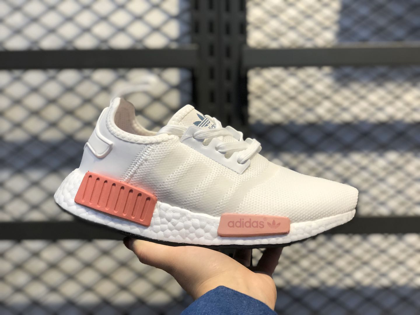 Adidas NMD R1 Ftwr White/Ftwr White-Rose Women's Running Shoes BY9952