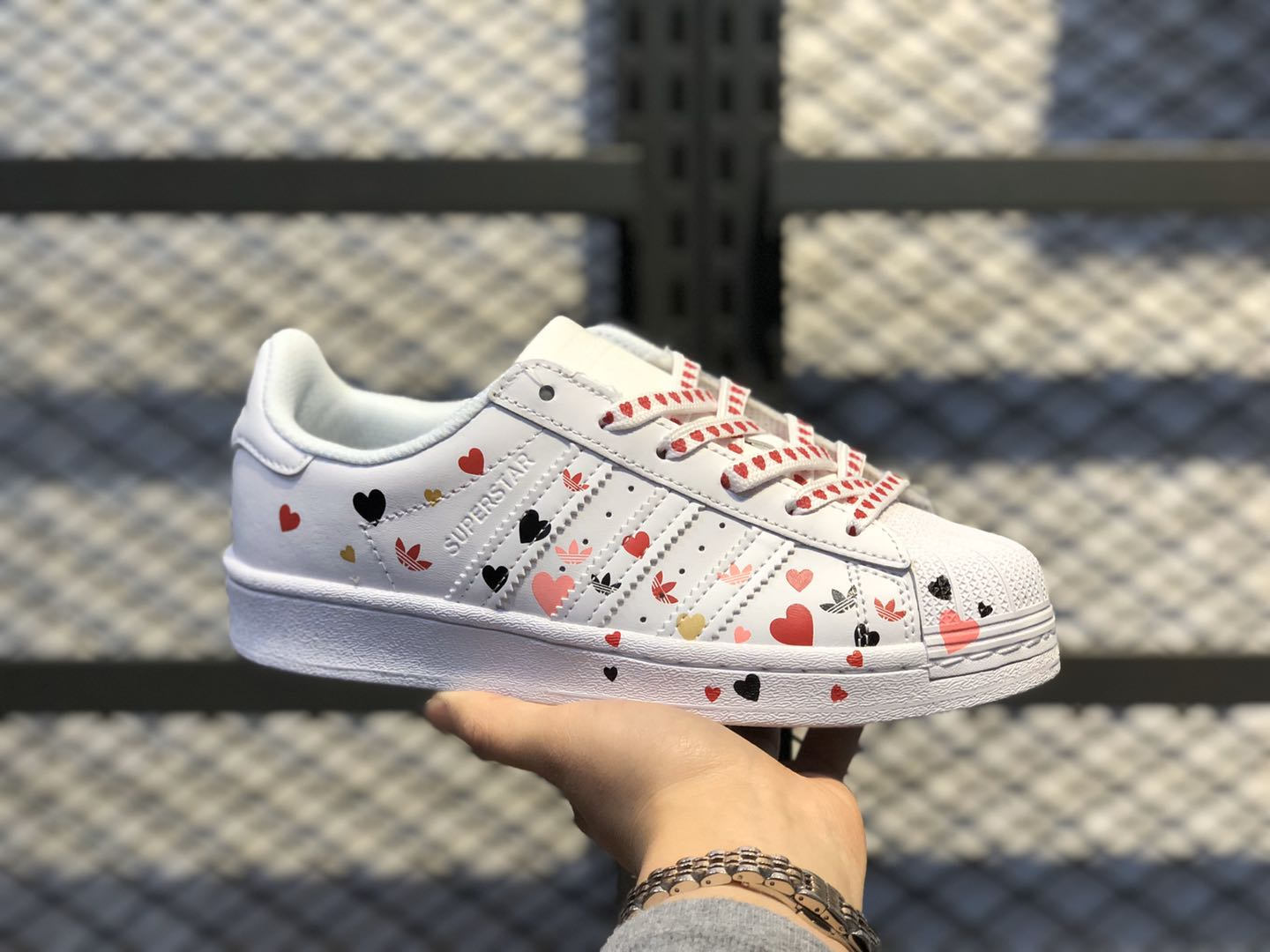 "Adidas Superstar ""Valentine's Day"" Cloud White/Core Black-Glory Pink FV3289"