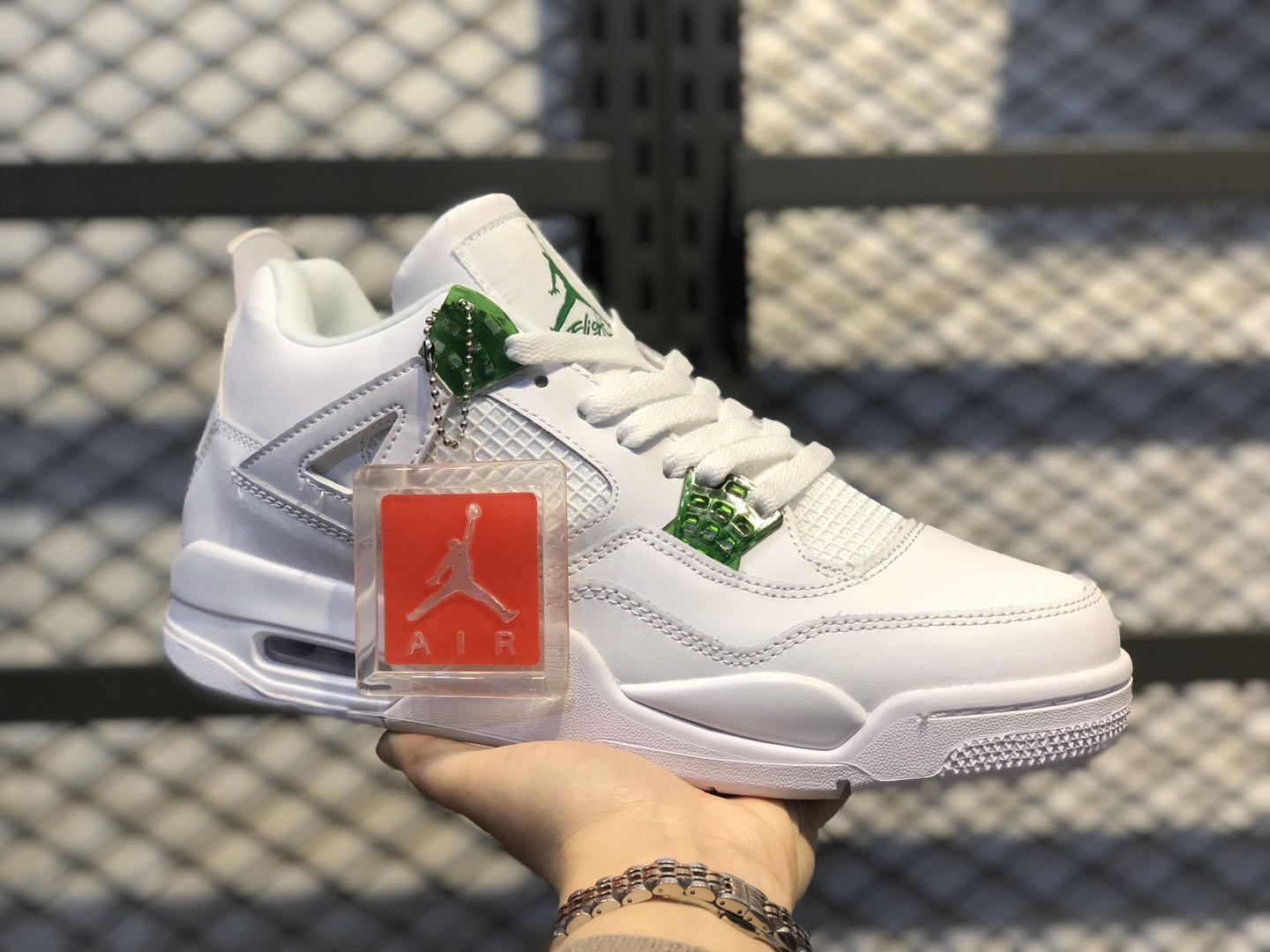 Air Jordan 4 White/Pine Green-Metallic Silver CT8527-113