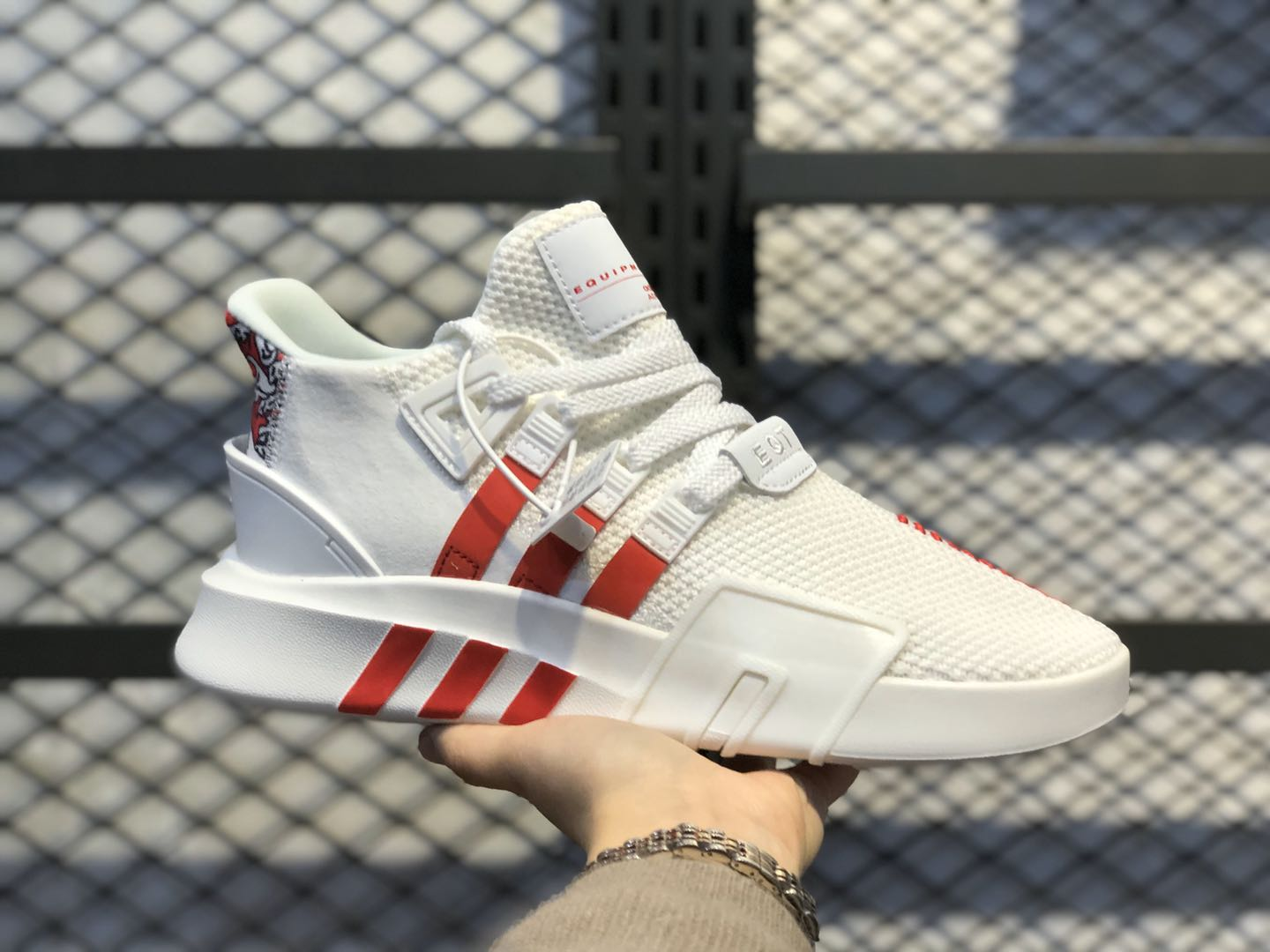 Best Sell Adidas EQT Basketball ADV White/University Red FU9395