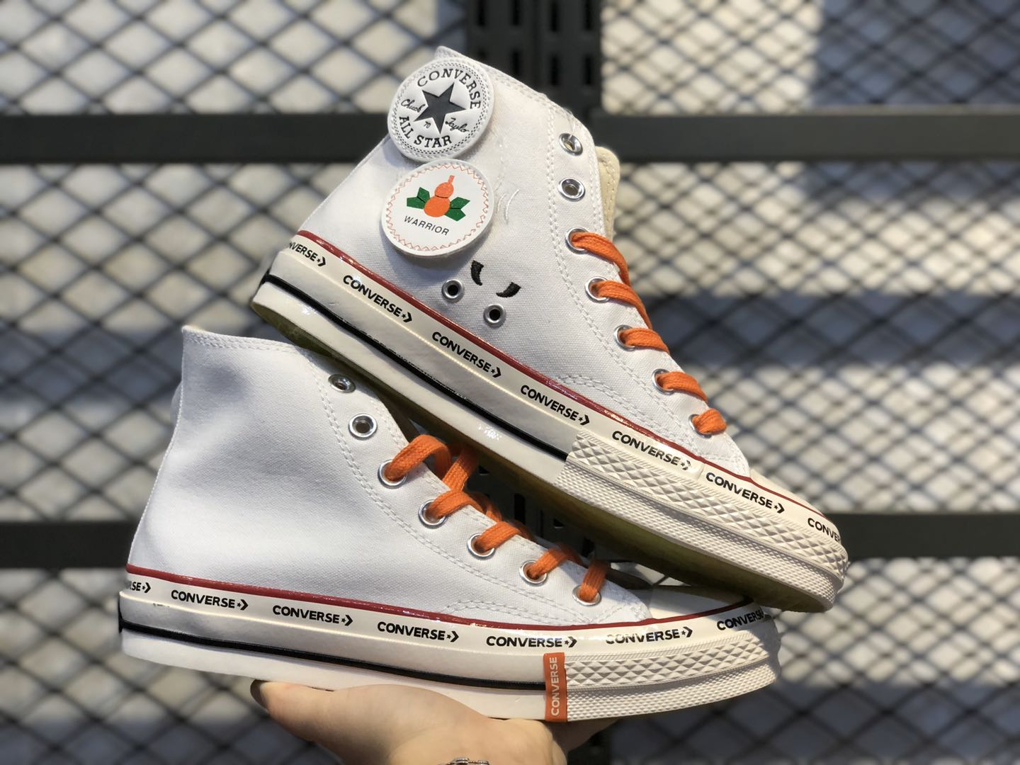 Converse Chuck Taylor All-Star 70s Hi White/Orange Free Shipping