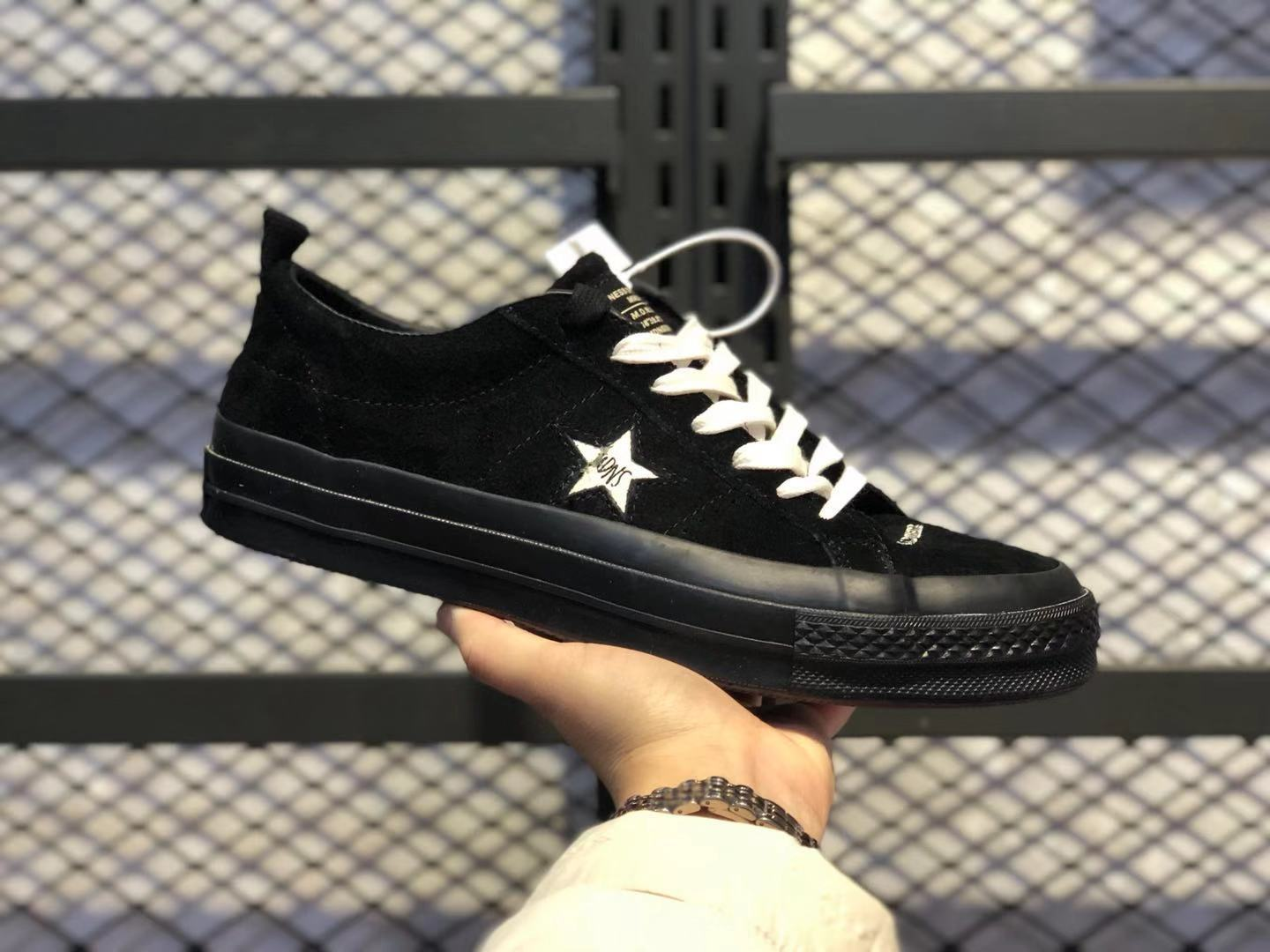 Madness x Converse One Star Snowflake Flocking All Black/Beige For Buy