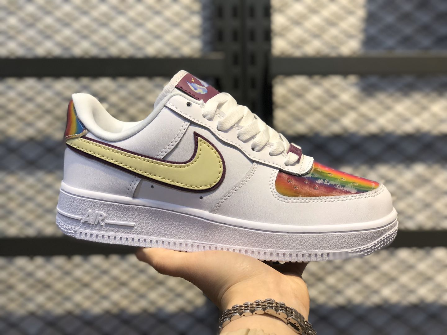 """Nike Air Force 1 """"Easter 2020"""" White/Barely Volt-Hyper Blue CW0367-100"""