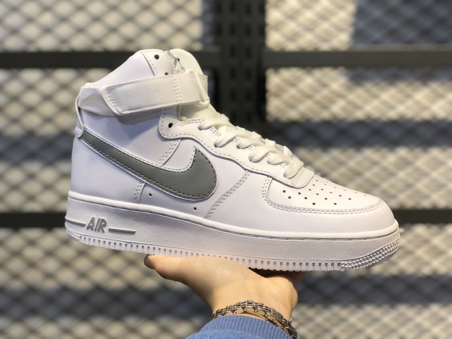 Nike Air Force 1 High White/Wolf Grey For Online Sale AT4141-100