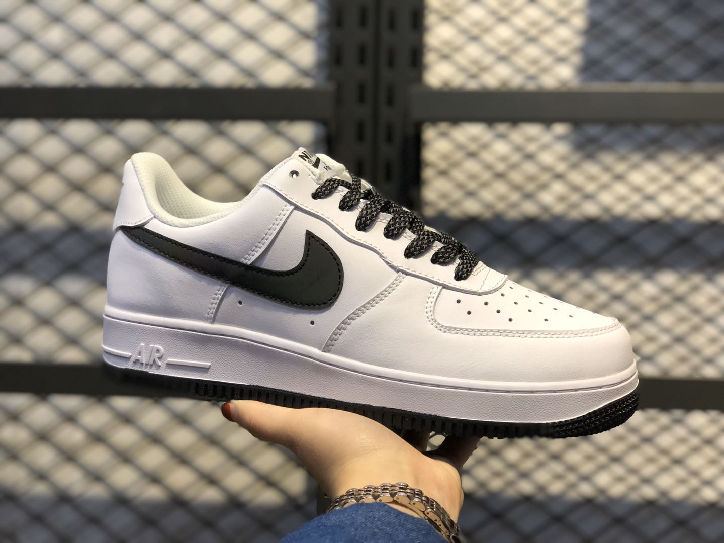 """Nike Air Force 1 Low """"White/Static Black"""" Hot Sale 366751-808"""
