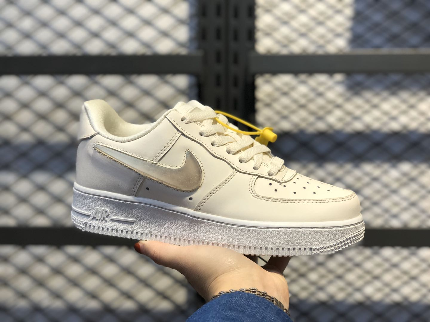 """Nike Air Force 1 Wmns """"Jelly Puff"""" Pale Ivory/Summit White-Guava Ice AH6827-100"""
