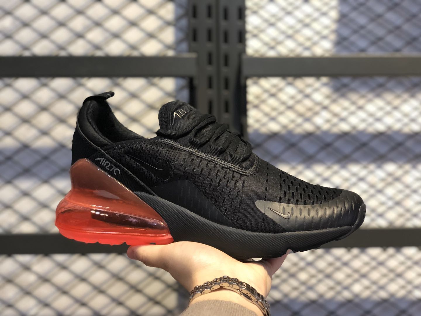 "Nike Air Max 270 ""Hot Punch"" Black/Black-Hot Punch AH8050-010"