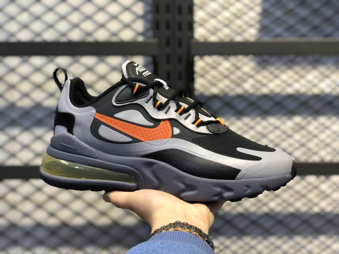 Nike Air Max 270 React Winter Wolf Grey/Total Orange-Black CD2049-006