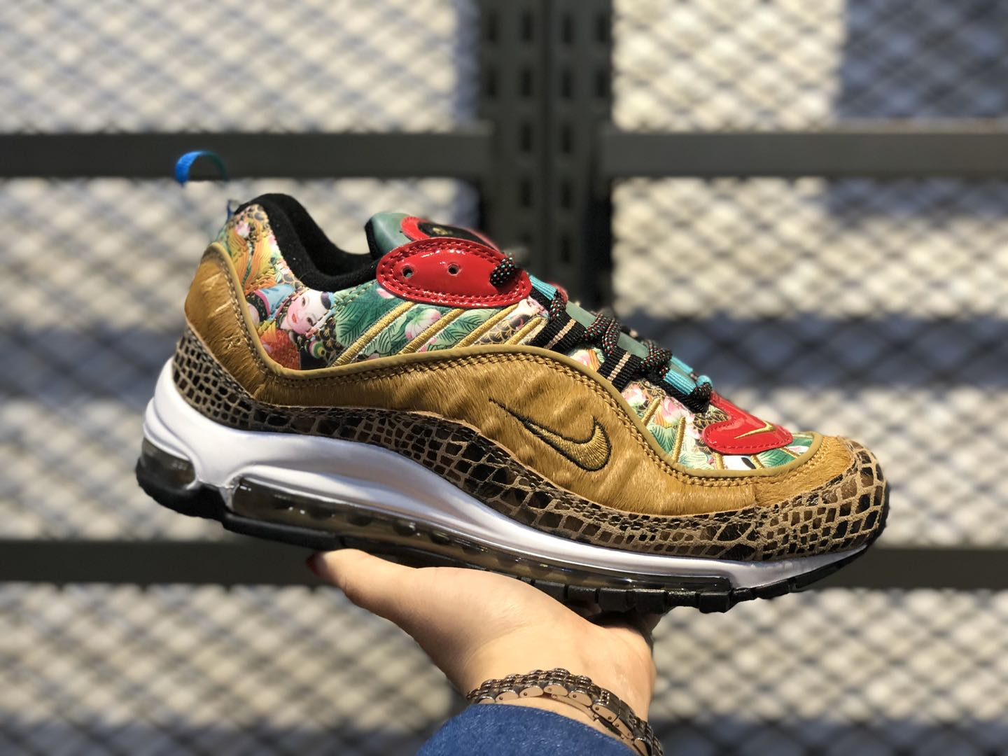 """Nike Air Max 98 """"Chinese New Year"""" Multi-Color/Metallic Gold-University Red BV6649-708"""