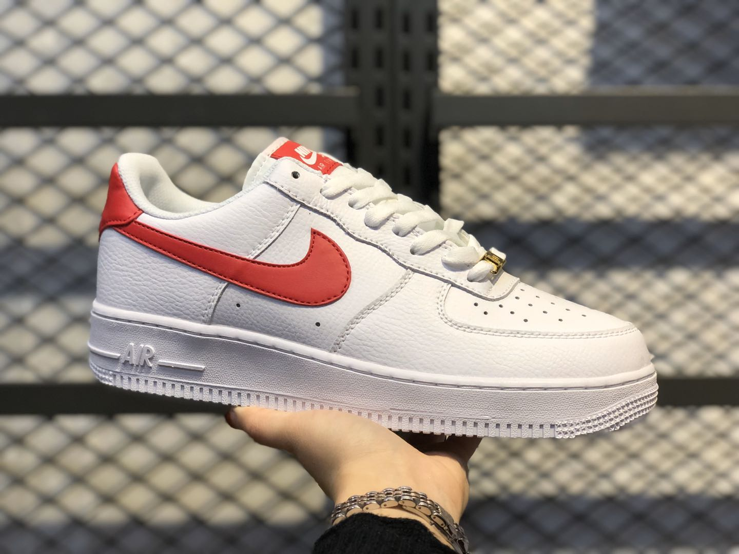 Nike Wmns Air Force 1'07 Low White/Noble Red On Sale 315115-154