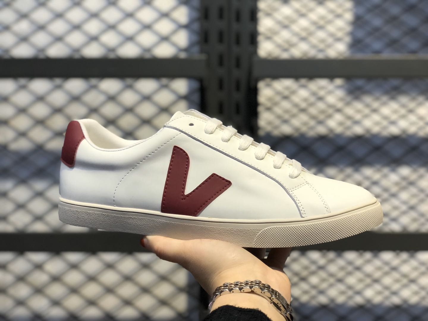 Veja Leather Extra Sneakers White/Infrared In Stock