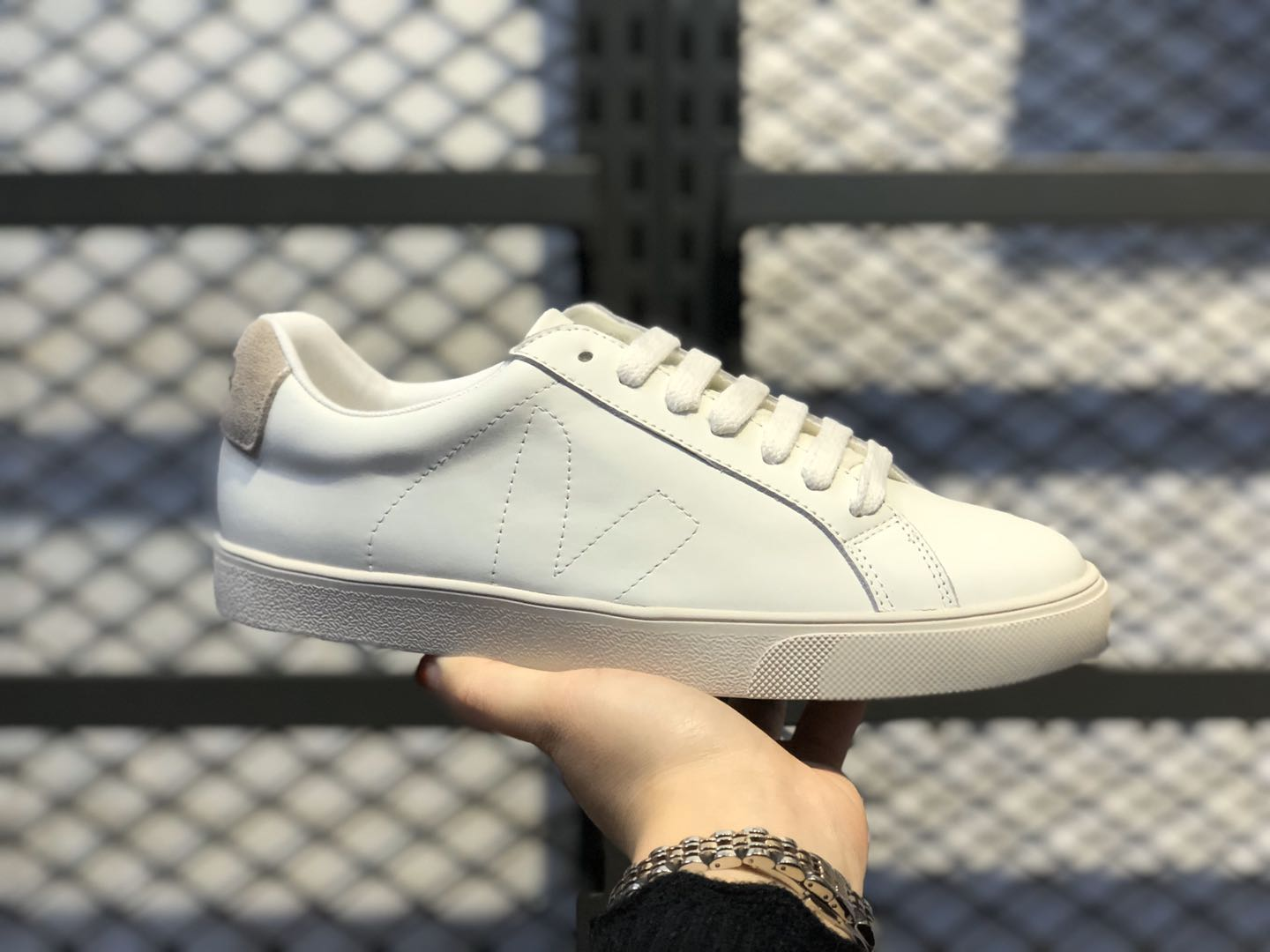 Veja Leather Extra Top Quality Sneakers Cloud White-Brown