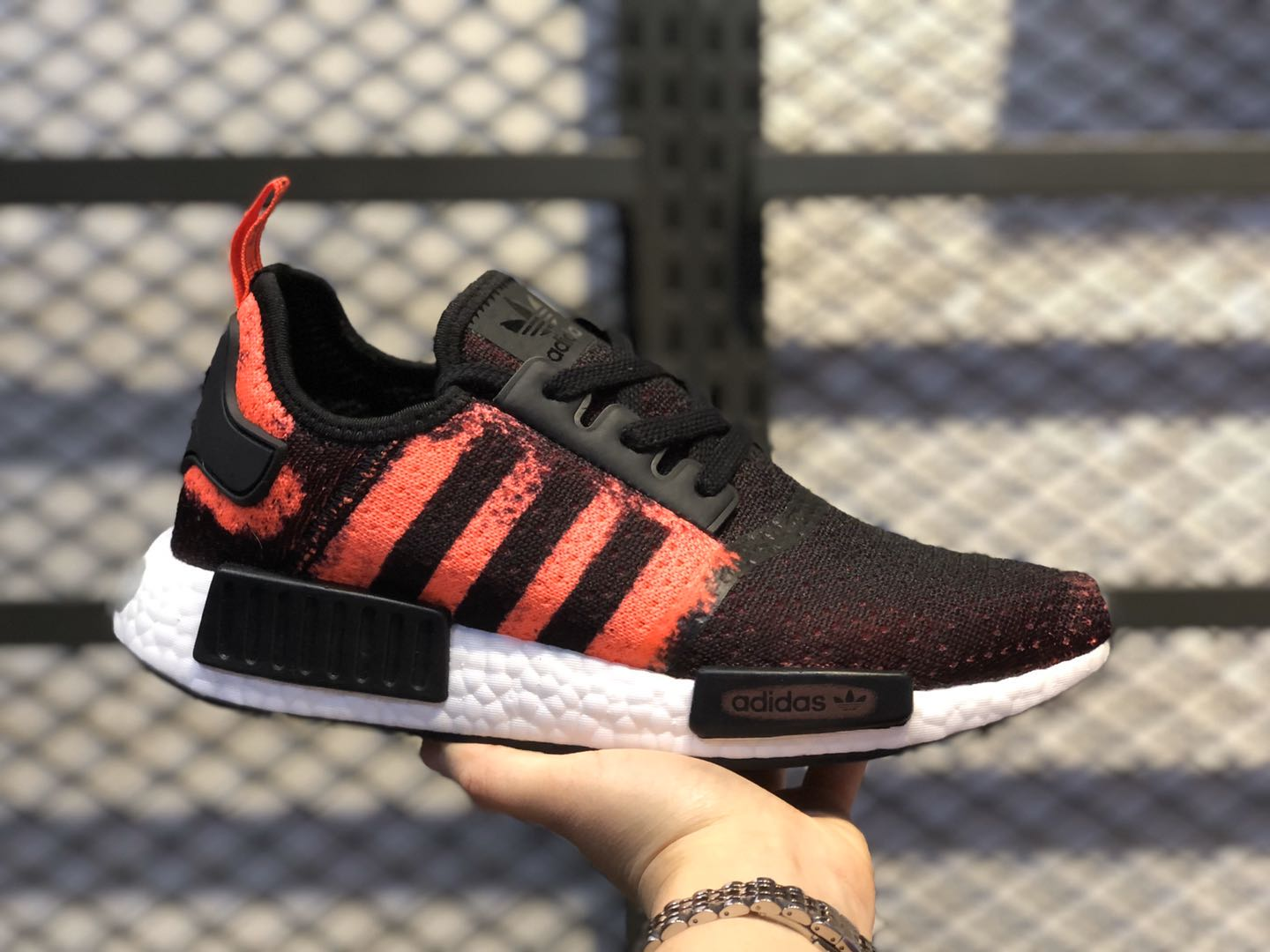 Adidas NMD R-1 Core Black/Solar Red-Core Black Running Shoes G27951