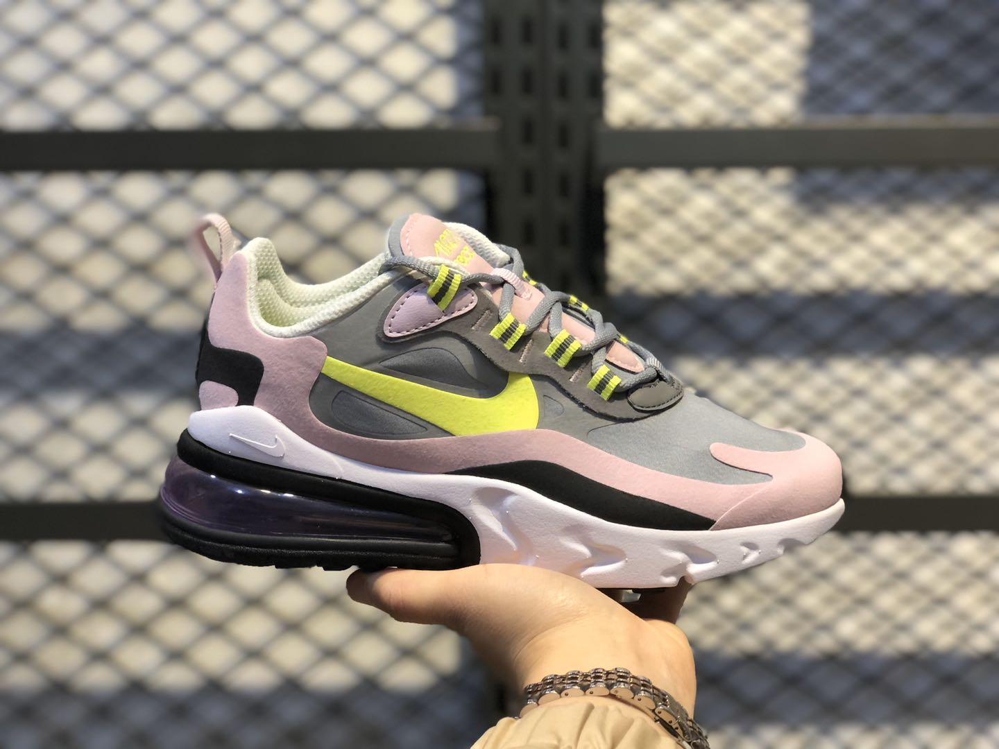 Nike Air Max 270 React GS Particle Grey On Sale BQ0103-010