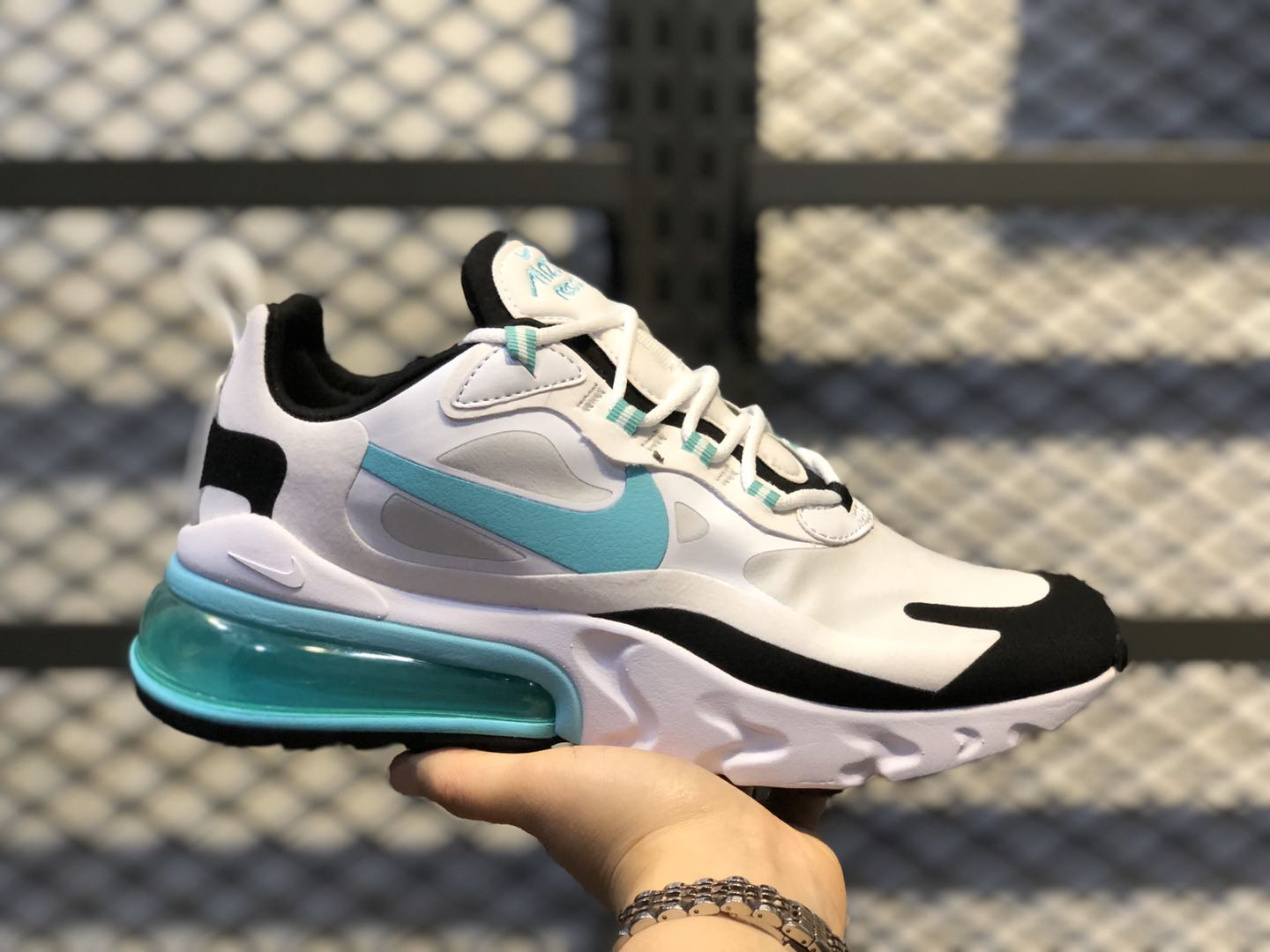 Nike Air Max 270 React Photon Dust/Aurora Green-White-Black CJ0619-001