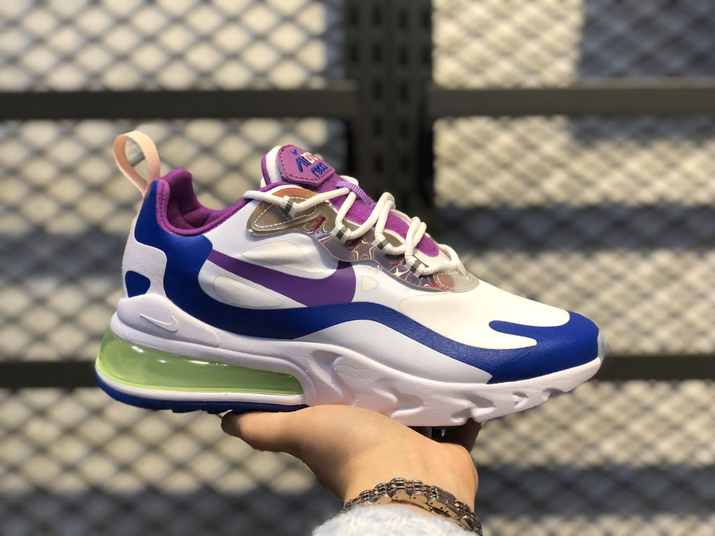 Nike Air Max 270 White/Washed Coral-Hyper Blue-Purple Nebula CW0630-100