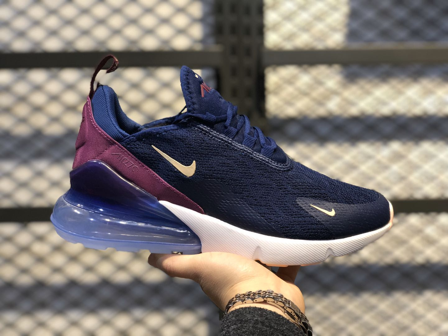 Nike Air Max 270 Wmns Navy Blue/Purple For Sale AH6789-402