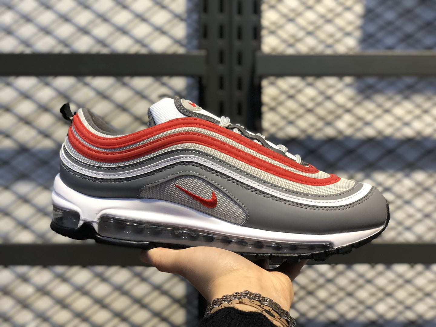 Nike Air Max 97 Smoke Grey/University Red-White Casual Shoes 921522-017