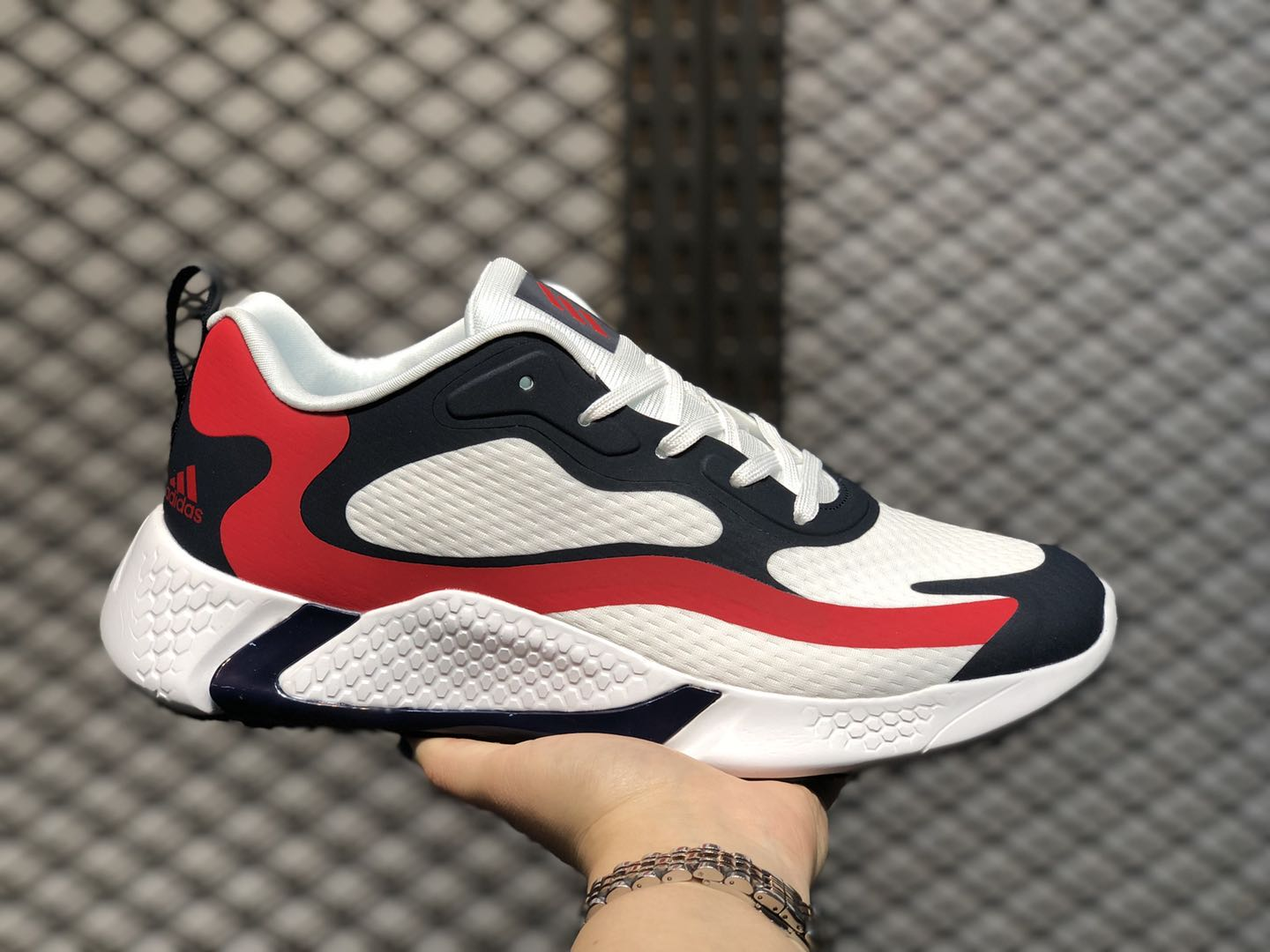 Adidas Alphabounce Beyond M White/Navy-Bright-Red CG5573