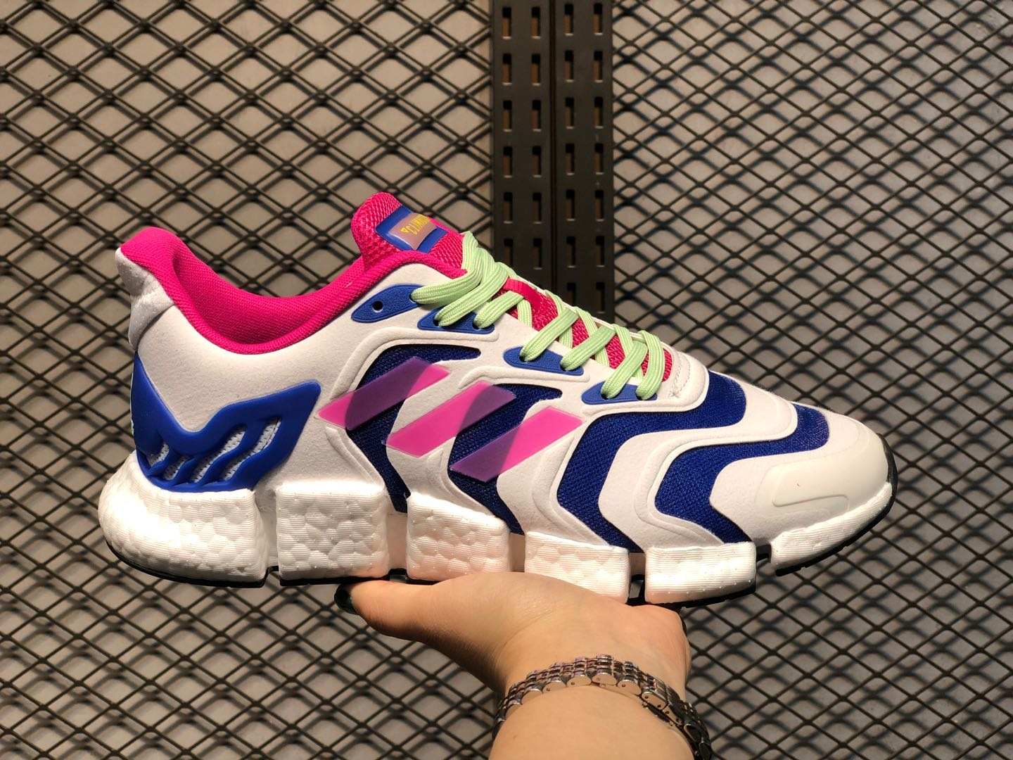 Adidas Climacool Cloud White/Thunder Blue-Red FX7847 Running Shoes