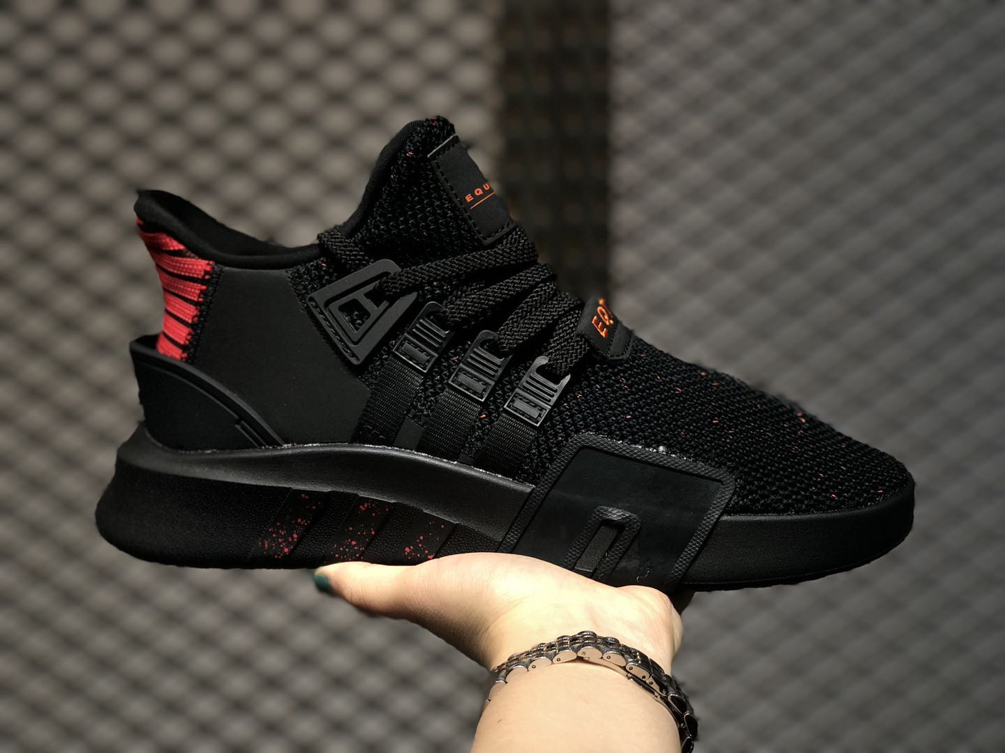 Adidas EQT Bask ADV Core Black/Hi-Res Red Sport Shoes On Sale EE5039