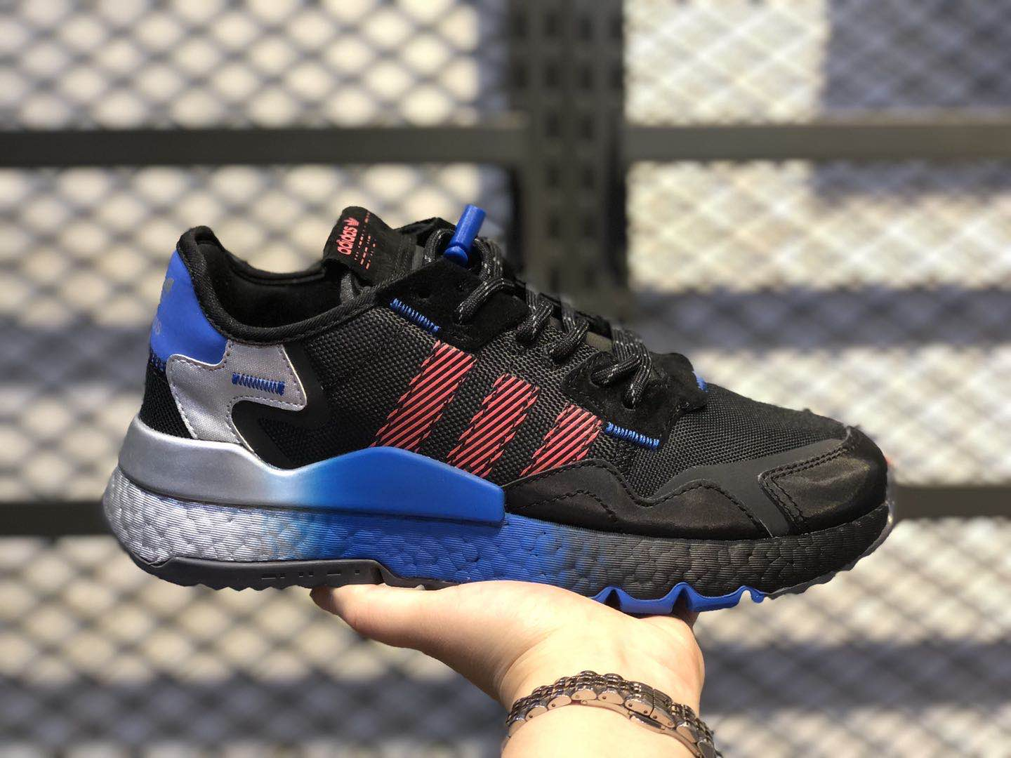 Adidas Nite Jogger Shoes Black/Trgrme-Flared Hot Selling FW4275