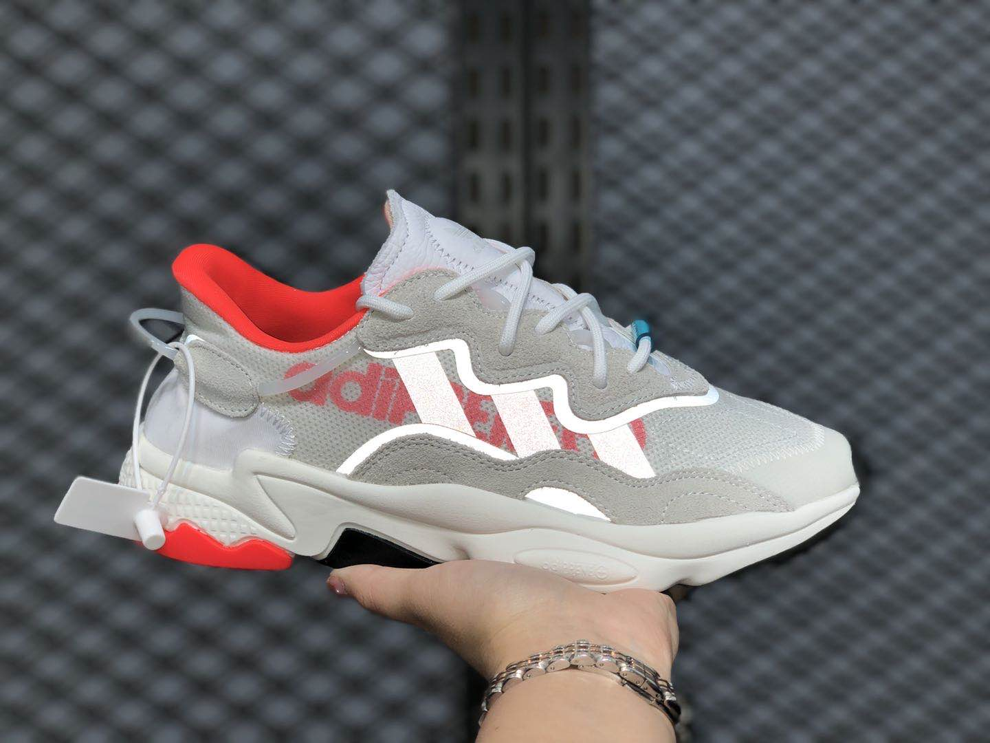 """Adidas Ozweego """"Hi-Res"""" Cloud White/Solar Red-Crystal White EH0252"""