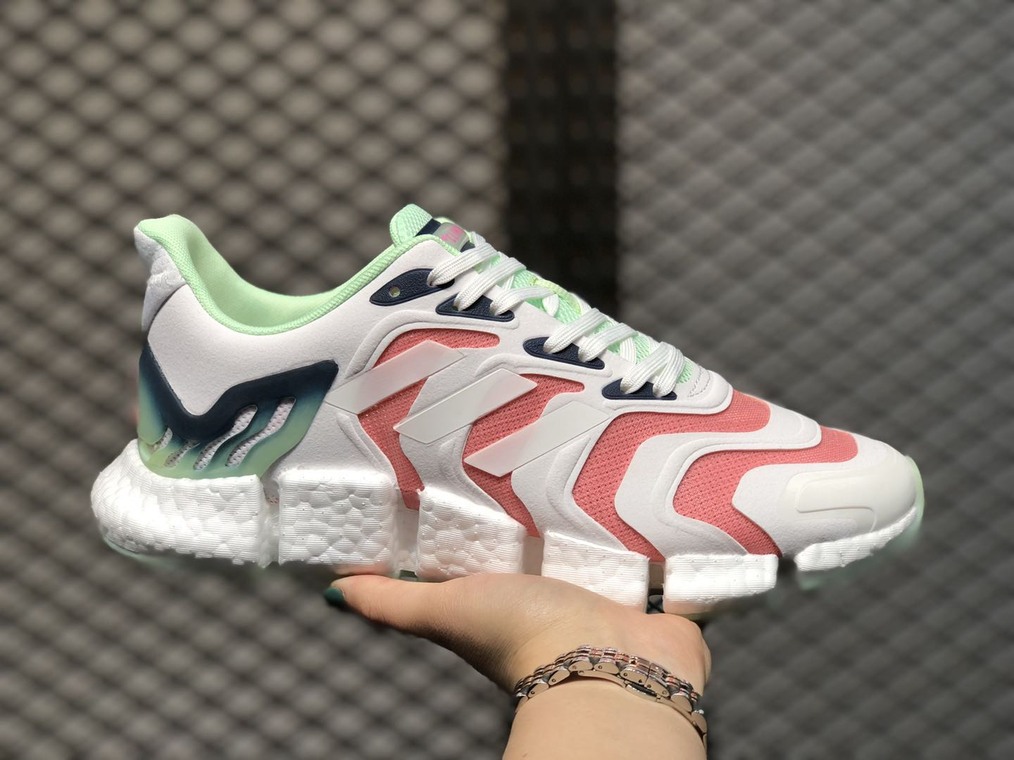 Adidas Wmns Climacool Cloud White/Pink-Green FX7849