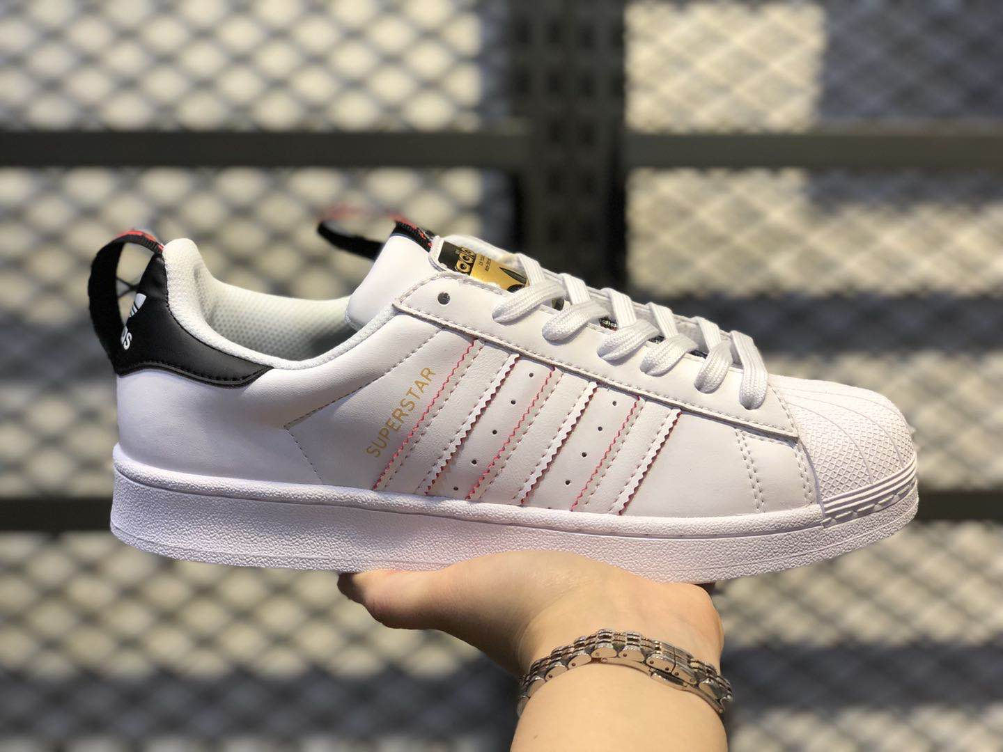 Adidas Wmns Superstar White Black Red FW6775 Casual Sport Shoes