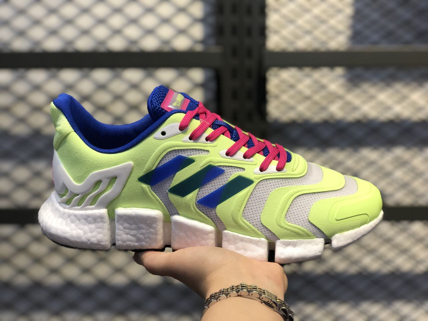 Discount Adidas Climacool Boost Neon Green/Sapphire-Pink FX7848
