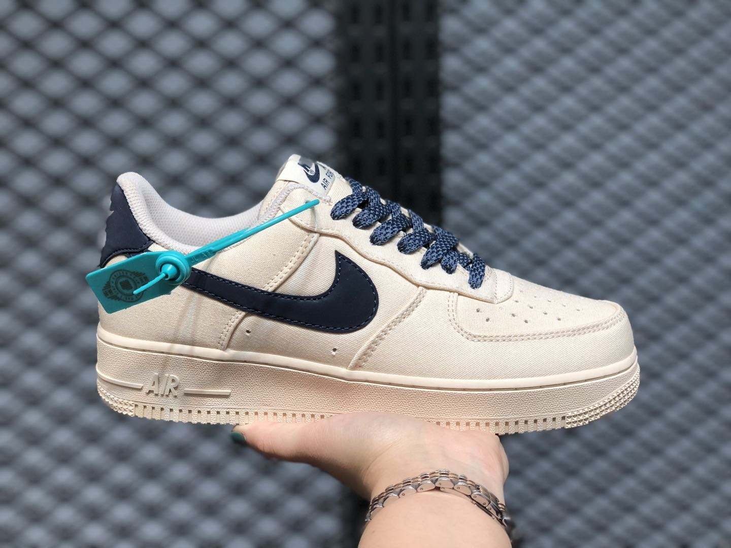 Nike Air Force 1 Low Cloud White/Dark Blue Casual Shoes 315122-109