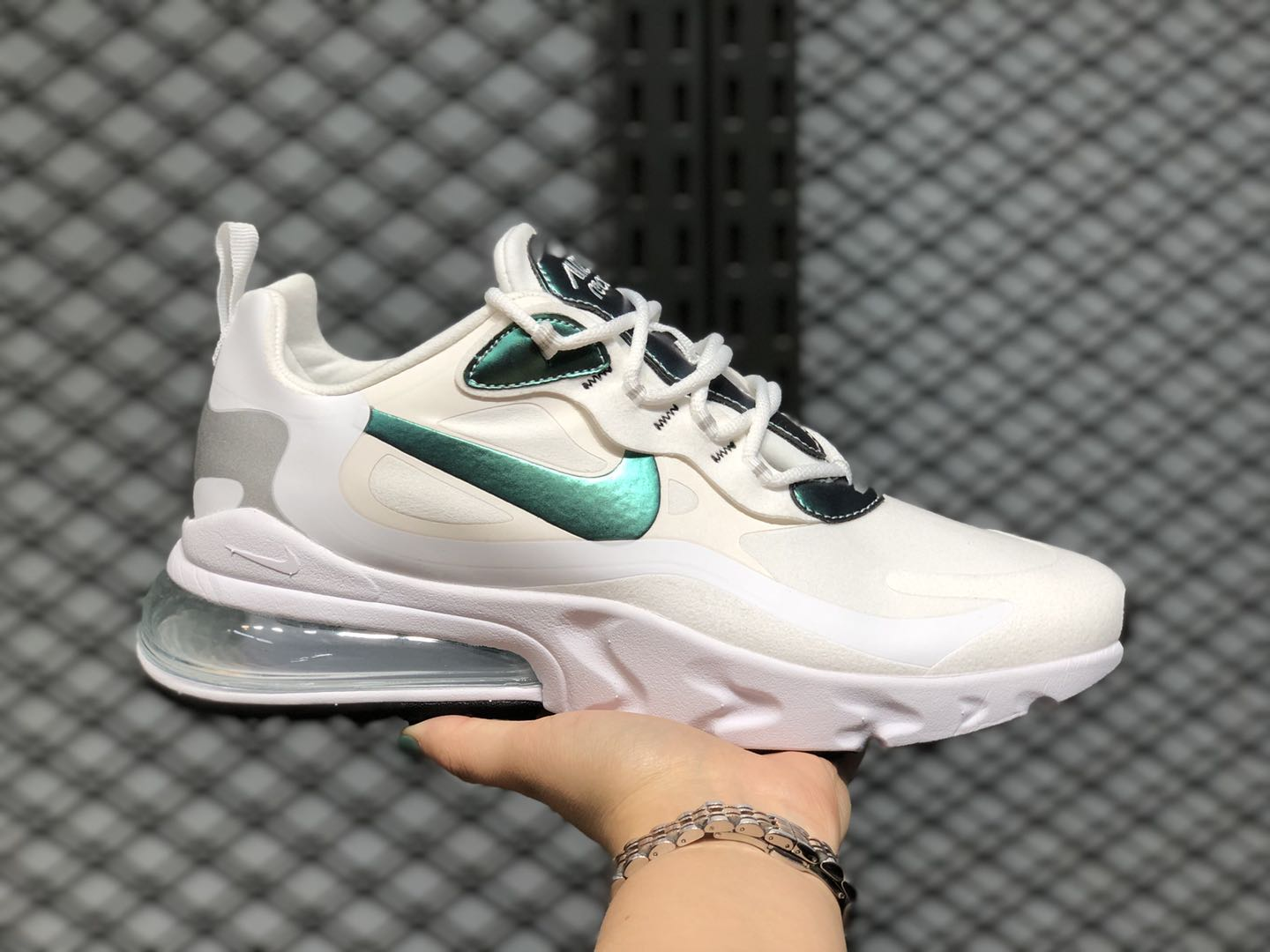 Nike Air Max 270 React Cloud White/Silver-Pine Green CZ7376-100