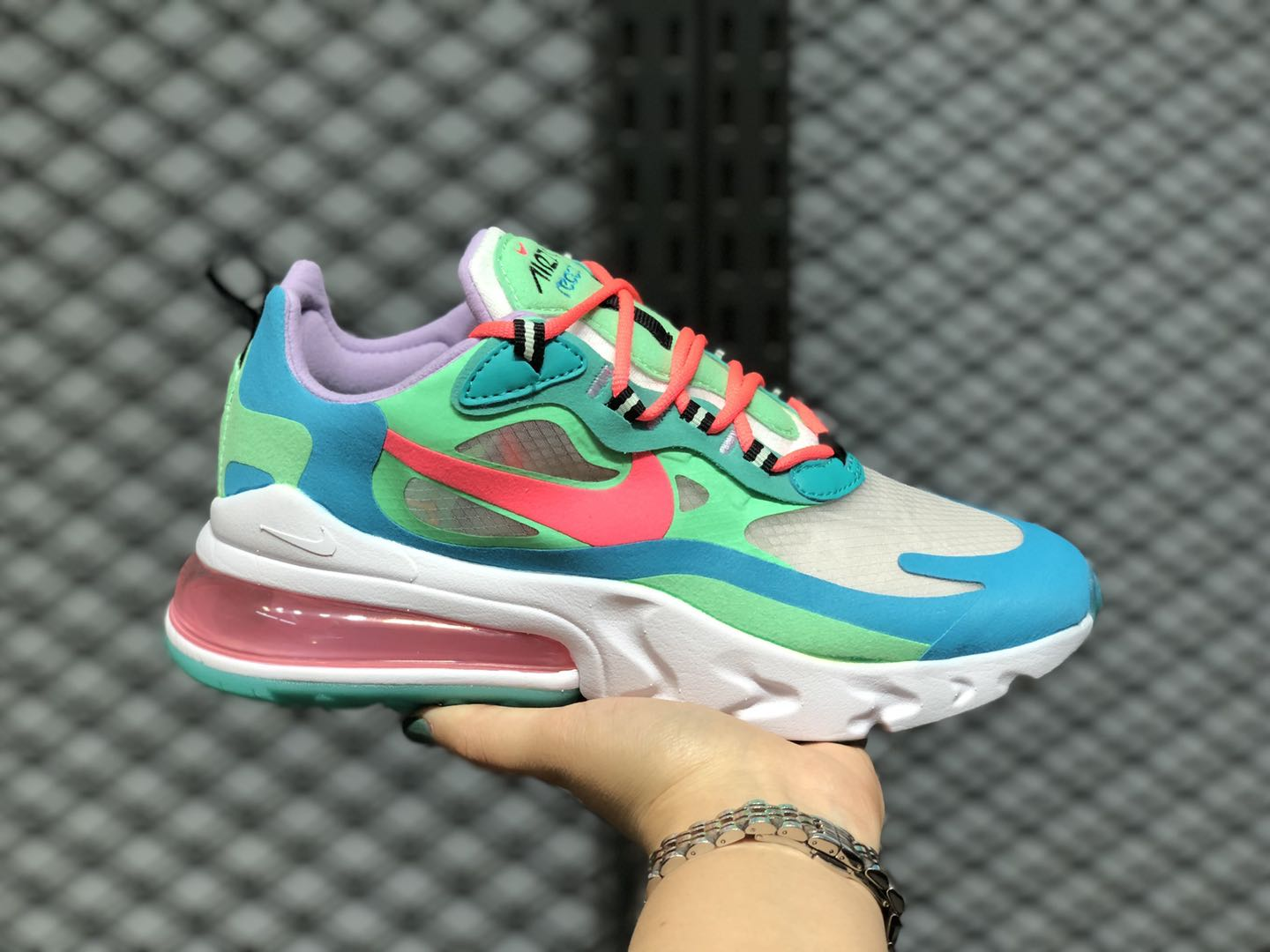 Nike Wmns Air Max 270 Electro Green/Flash Crimson-Blue Lagoon AT6174-300