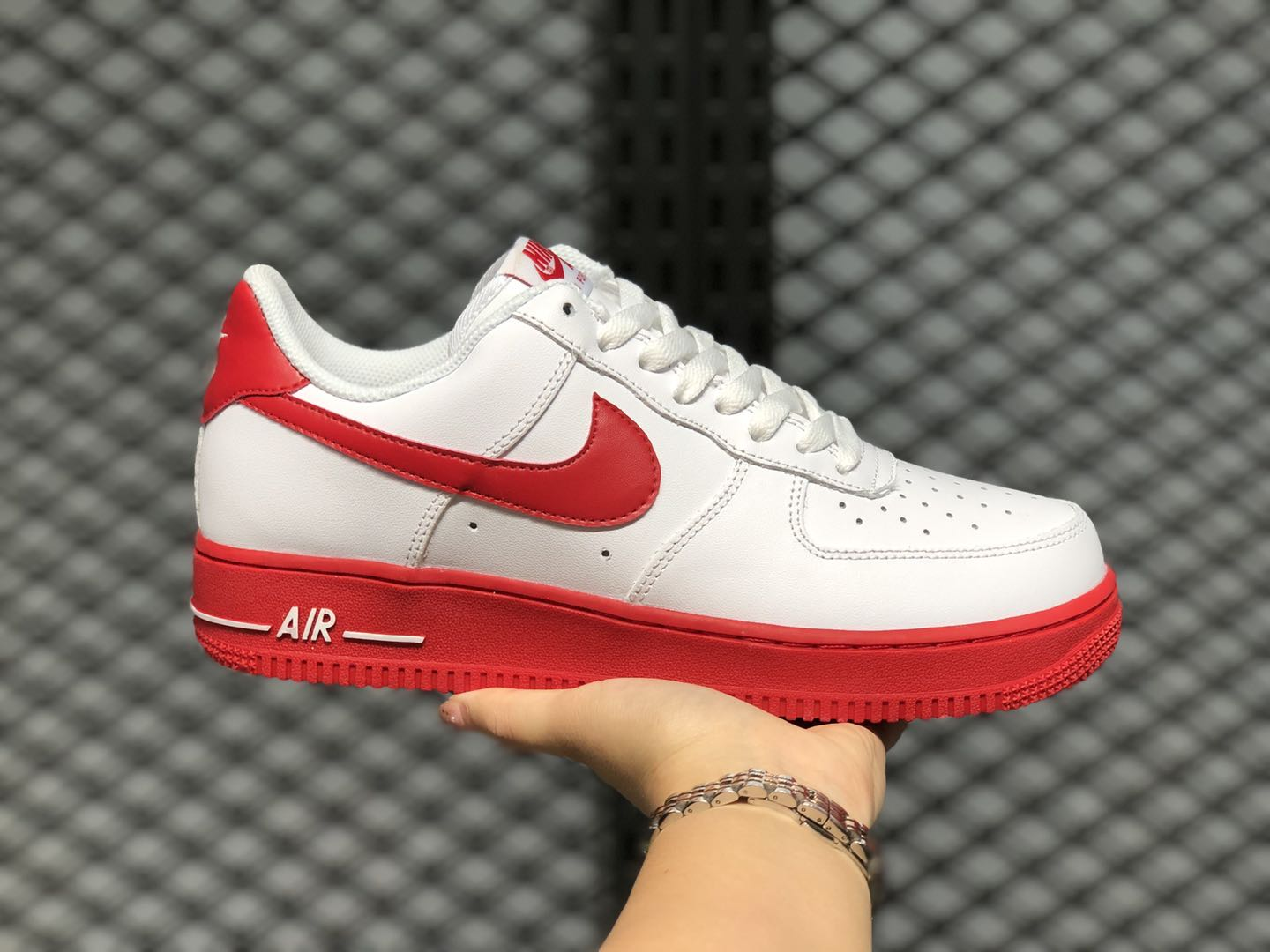 Nike Air Force 1 Low White/University Red-White On Sale CK7663-102