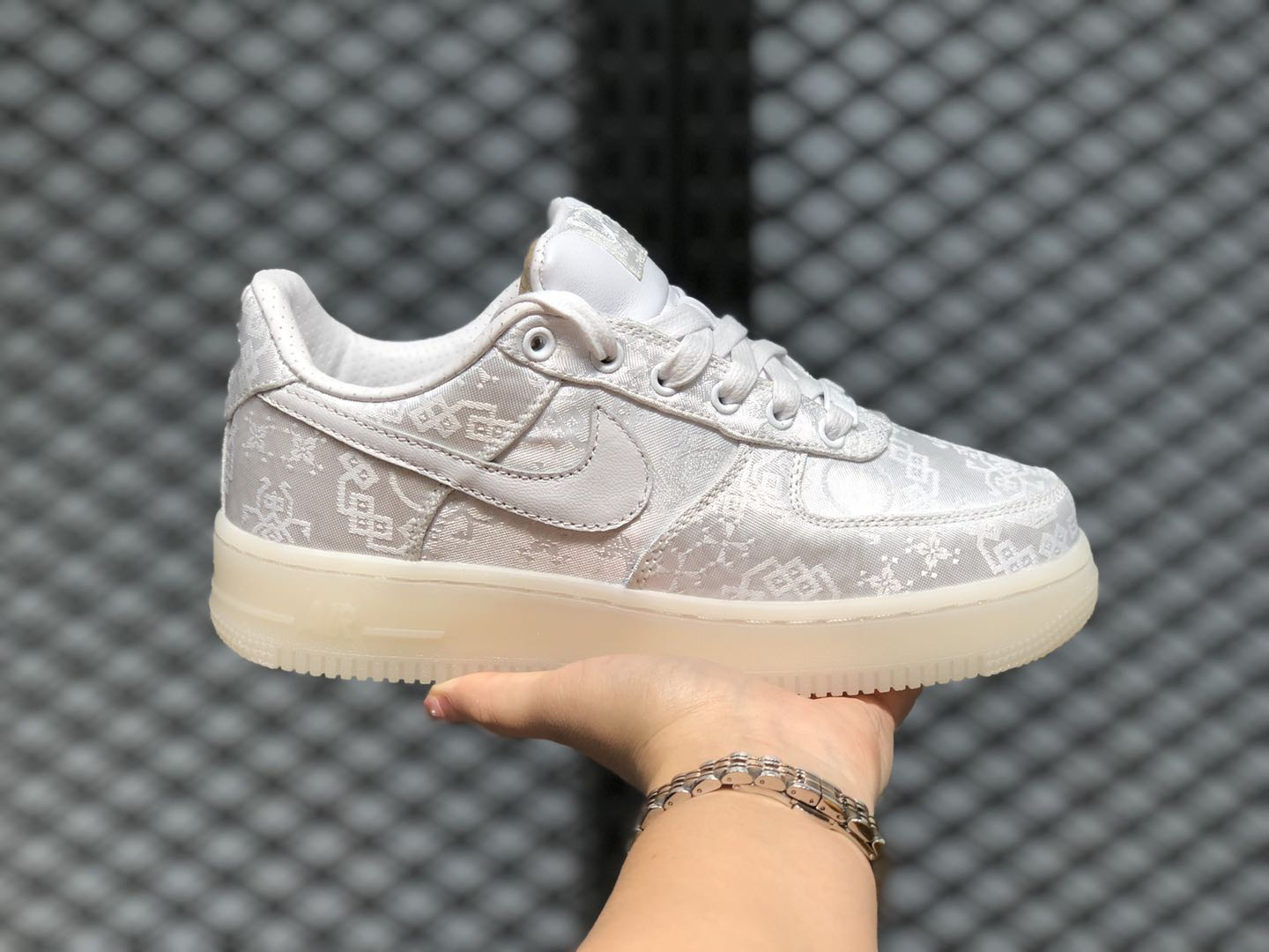 CLOT x Nike Air Force 1 Low Premium White Lifestyle Shoes AO9286-100