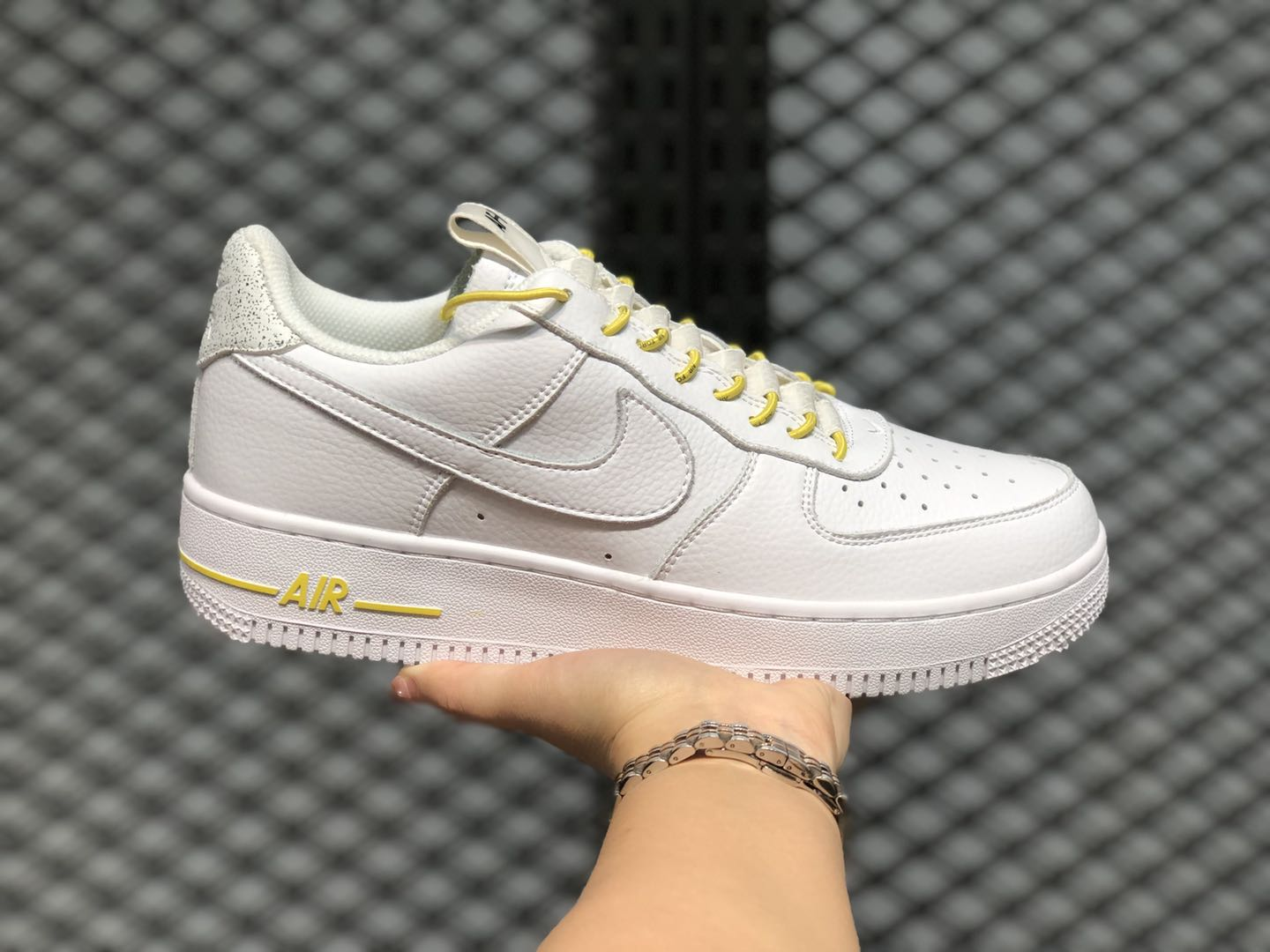 The Latest Nike Air Force 107 Lux White-Chrome Yellow 898889-104