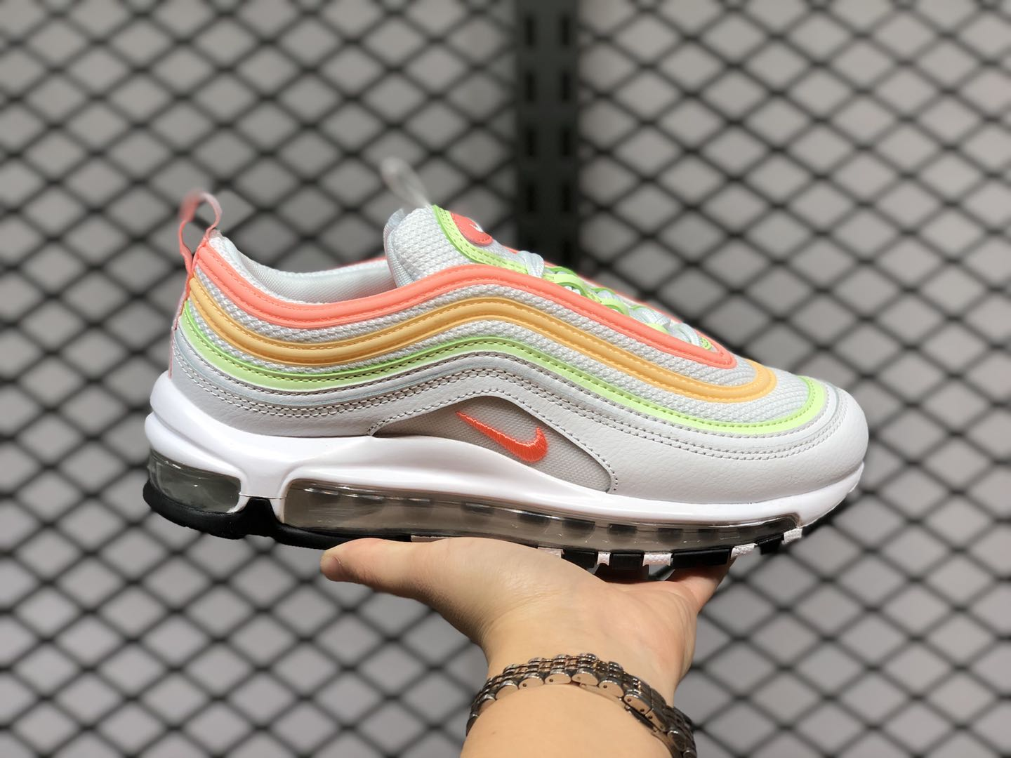 Nike Air Max 97 Essential White/Melon Tint/Barely Volt-Atomic Pink CZ6087-100