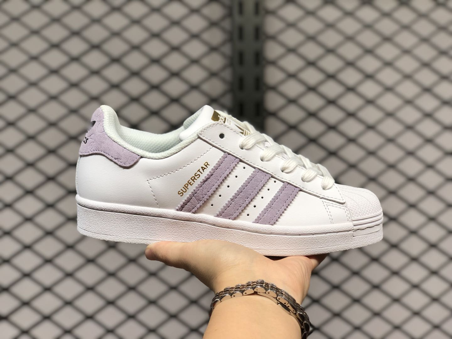 Cheap Sale Adidas Superstar Cloud White/Core Black-Purple FW3567