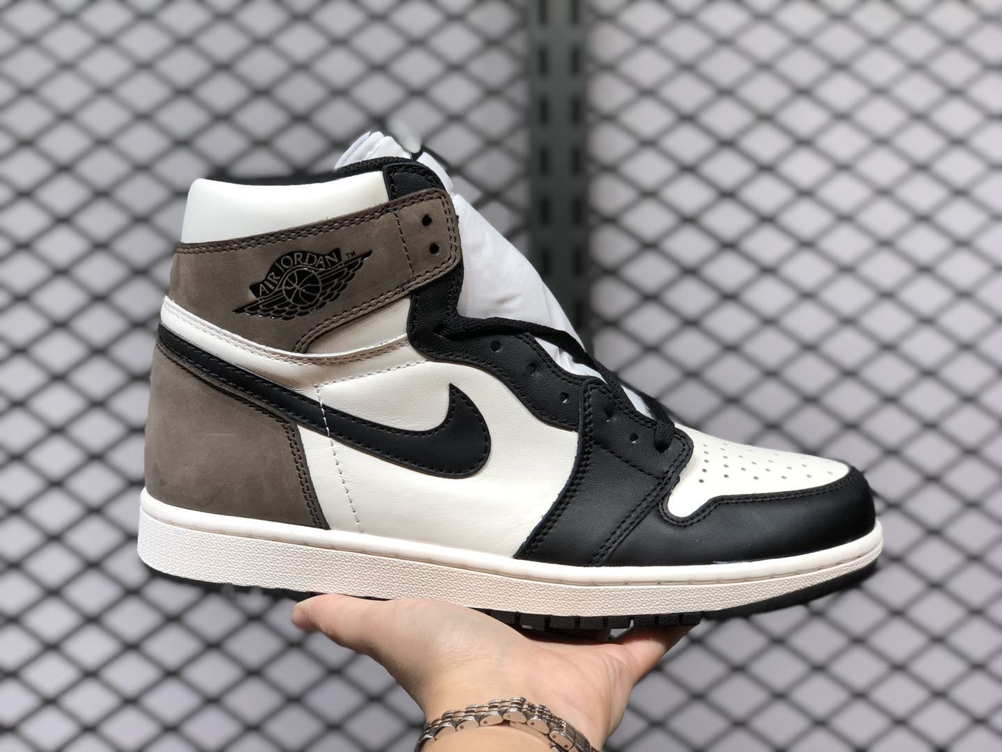 Air Jordan 1 High OG Sail/Dark Mocha-Black For Buy 555088-105