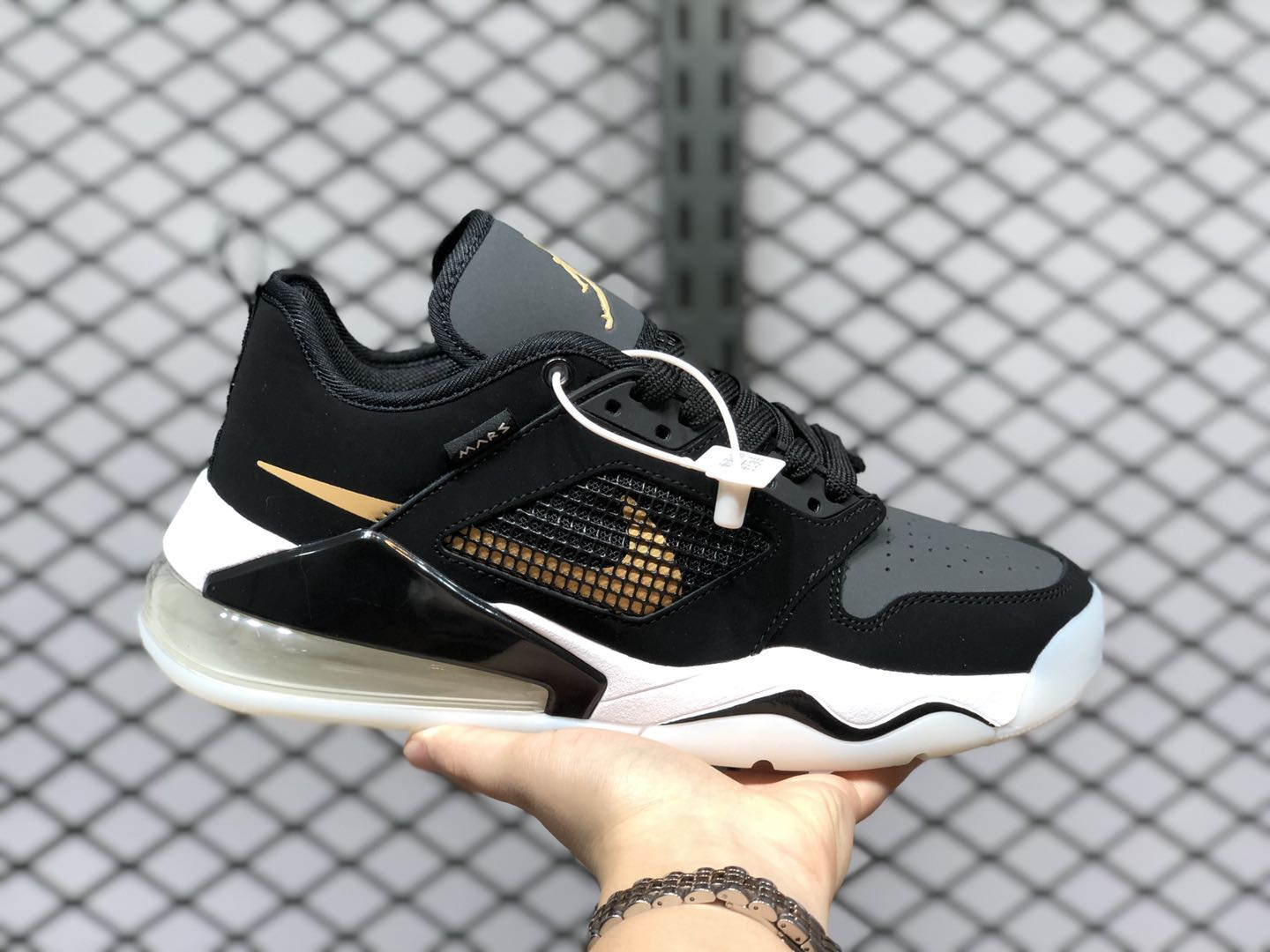 Jordan Mars 270 Low Black/Metallic Gold-Dark Smoke Grey-White-Pure Platinum